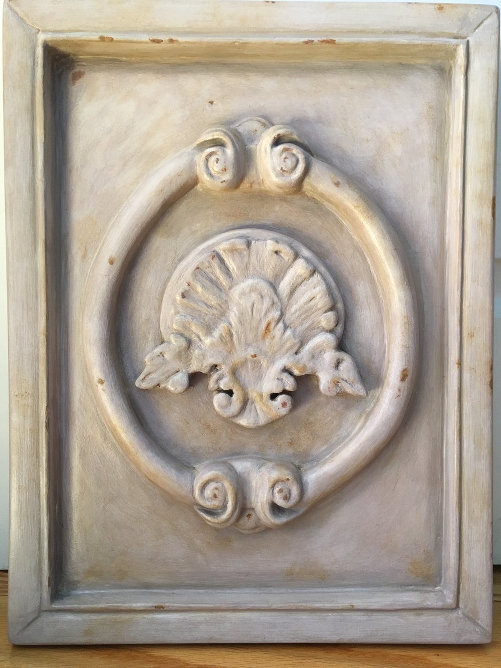 Relief sculpture<br>Acrylic on carved insulation foam