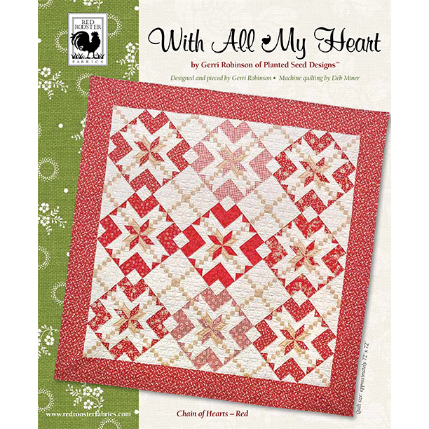 With All My Heart Red<br />FREE PATTERN