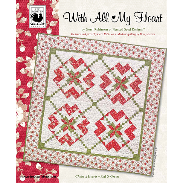 With All My Heart Green and Red<br />FREE PATTERN
