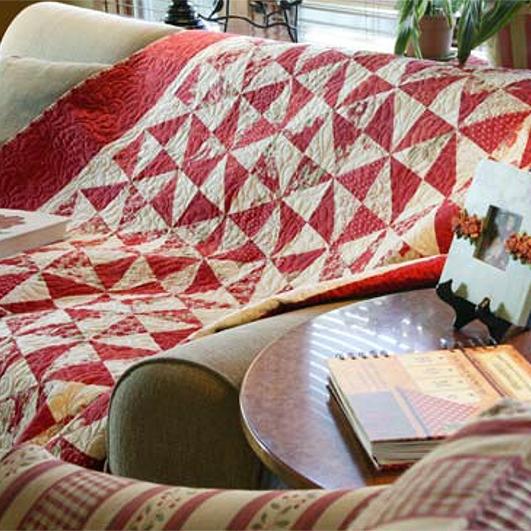 Crimson Pinwheels<br />FREE PATTERN