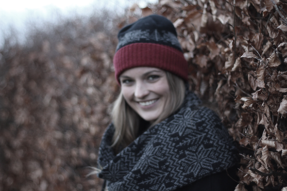 Fairisle hat scarf