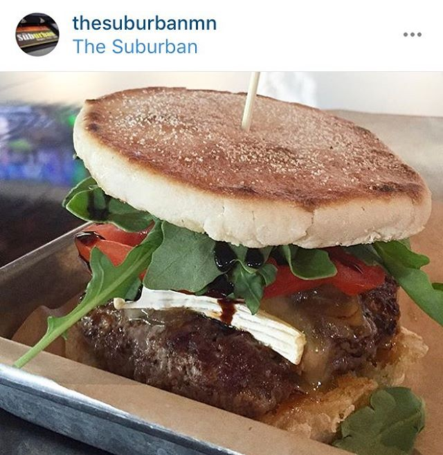 Look what our friends at @thesuburbanmn just hand-pattied for the month of August: the bistro burger. But don't just take our word for it. Eat and enjoy! #itsinabook