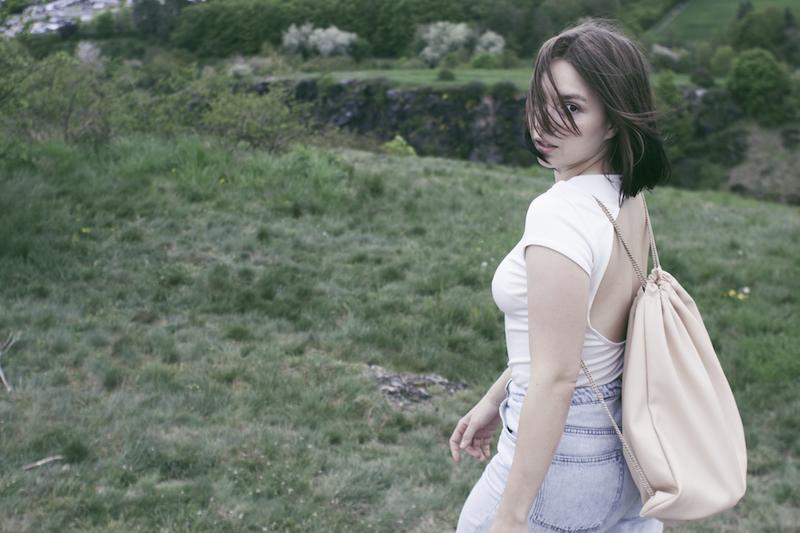 jeans & bodysuit H&M, backpack Odivi