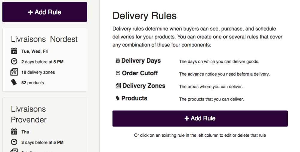 Delivery Rules