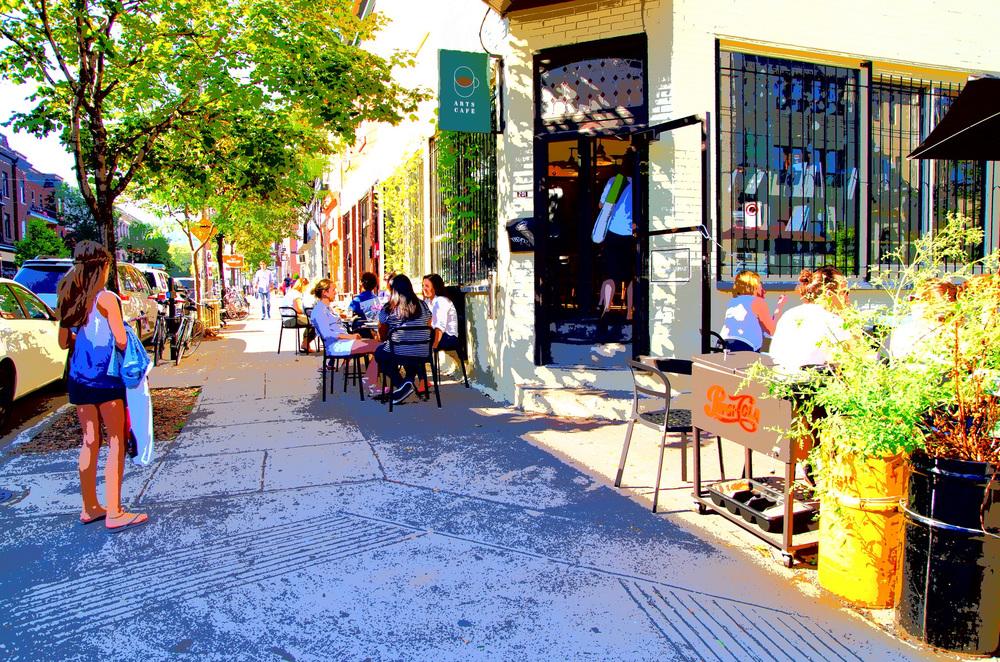 Le Arts Café sur la rue Fairmount, à Montréal.