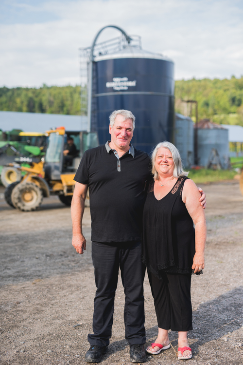 Roger Raymond and Céline Bélec, proud Québec producers.