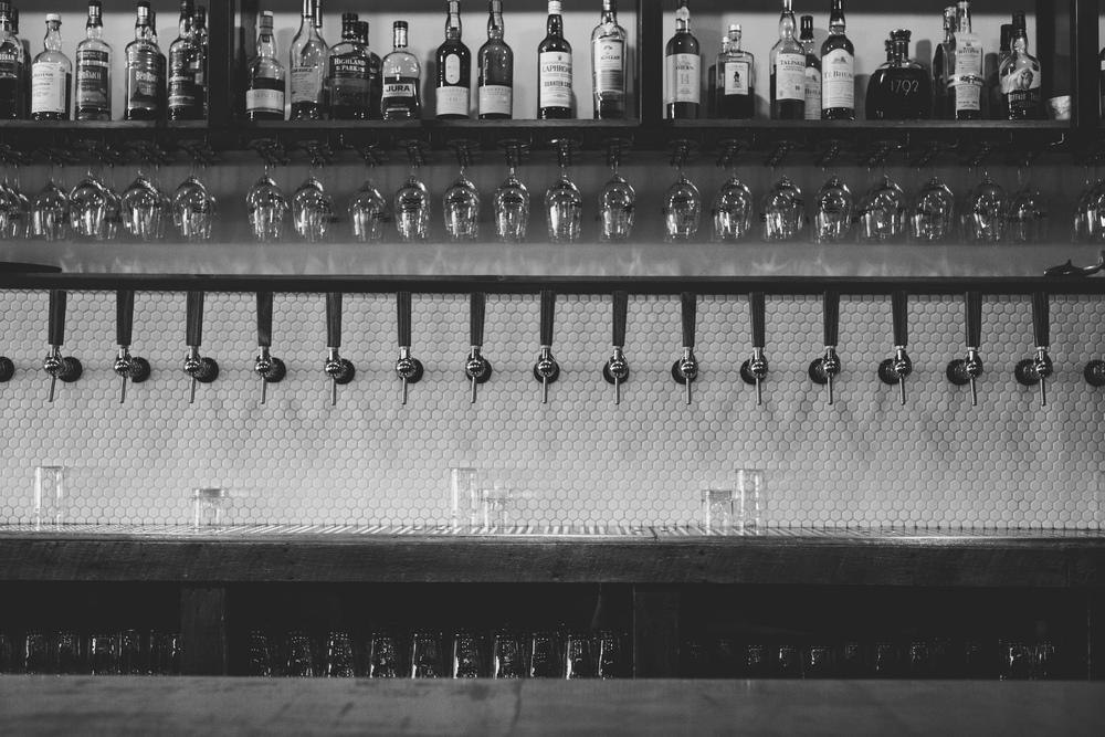 24 débits de boisson pour 22 bières au style différent, plus un cidre et un kombucha.