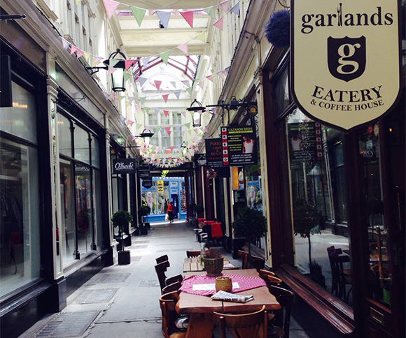 Duke Street Arcade. Home to many cafes!