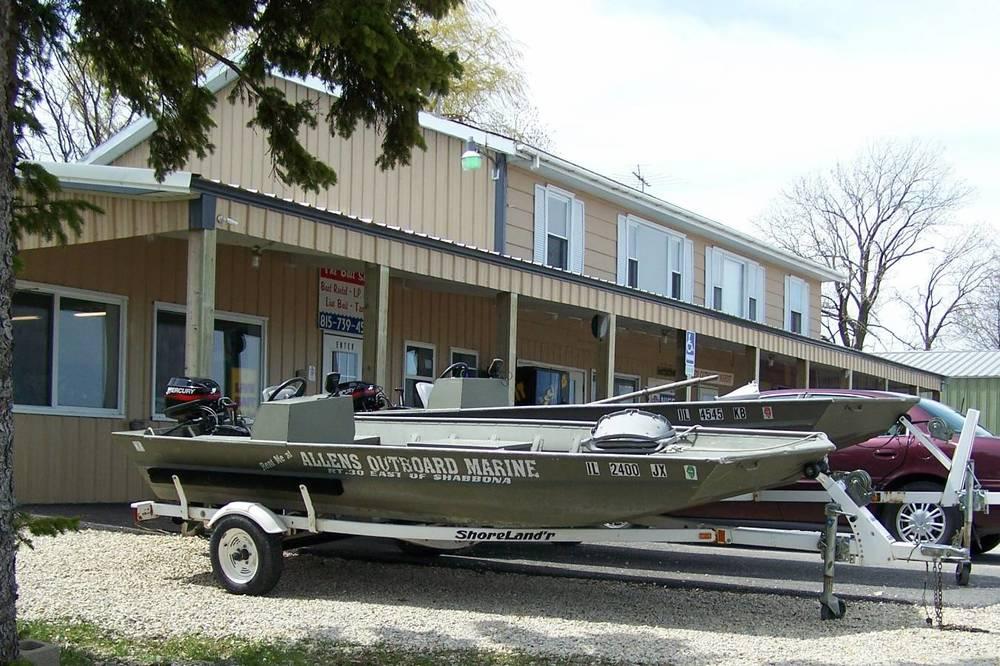 ALLEN Outboard Marine & Lawn Equipment   4778 Rte. 30 (P.O. Box 292) Shabbona, IL 60550   815-824-8377 FAX: 815-824-8378   E-mail: al554@aol.com