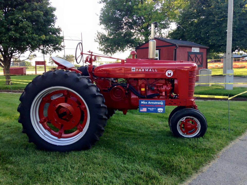 Max Armstrong's tractor at the 2015 Summer Fest
