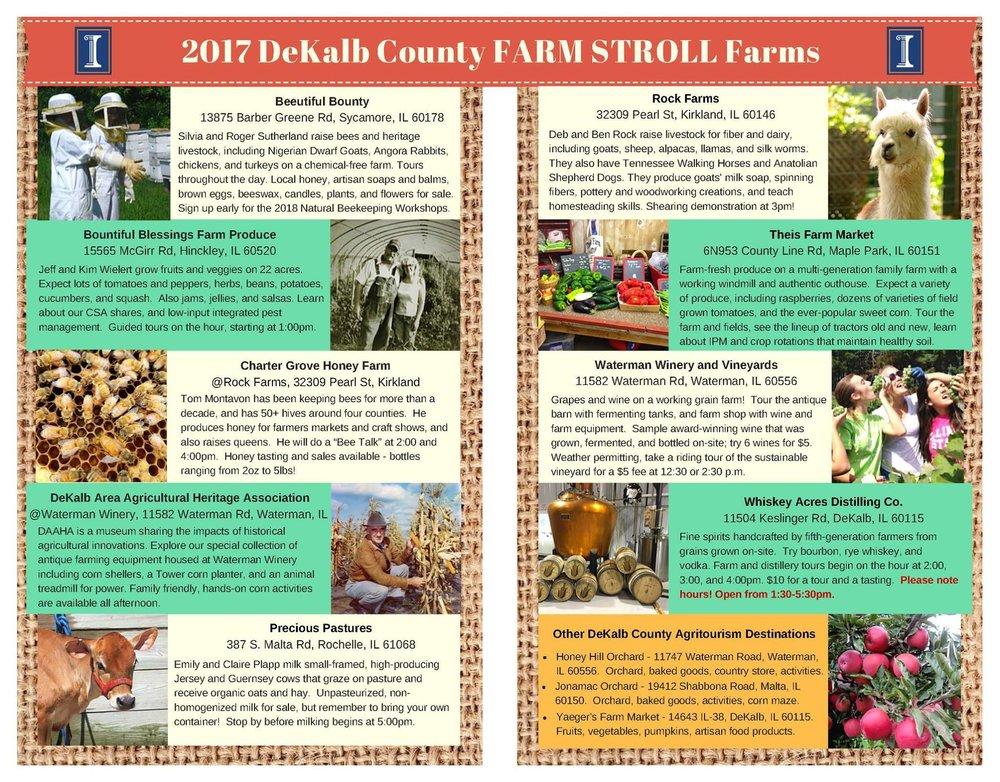 2017 DeKalb County Farm Stroll!