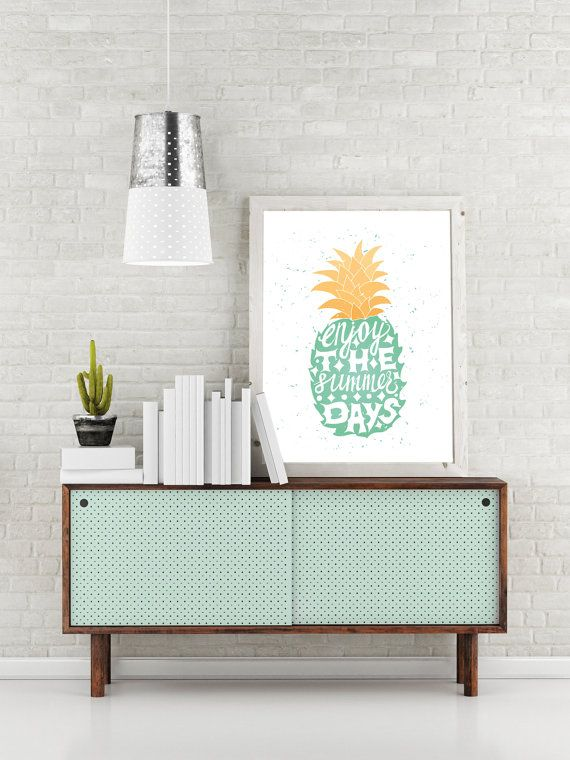 "Illustration typo ""Pineapple Summer Days"" from Etsy"