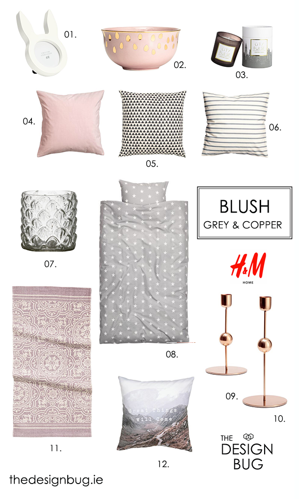 The Design Bug Rose Grey & Copper H & M