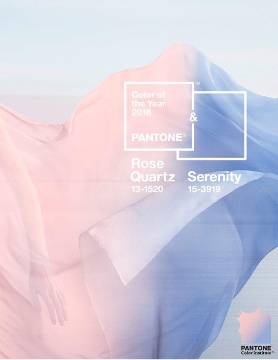 Pantone Colour of the Year: Rose Quartz & Serenity