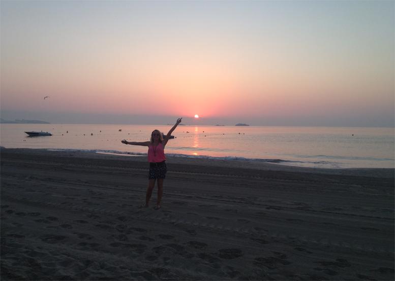 I'm lovin the sunrise and beautiful sky on Bora Bora beach!