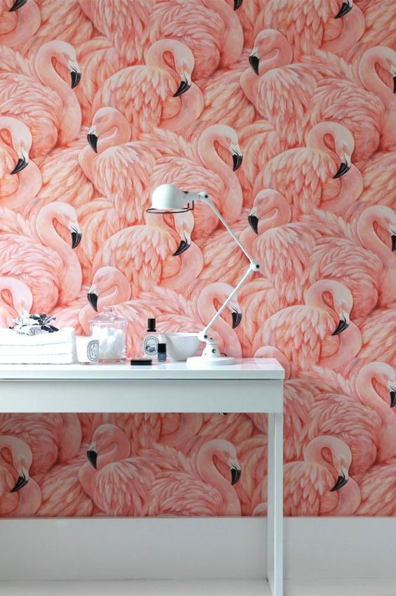 Image: Flamingo Wallpaper by Albany