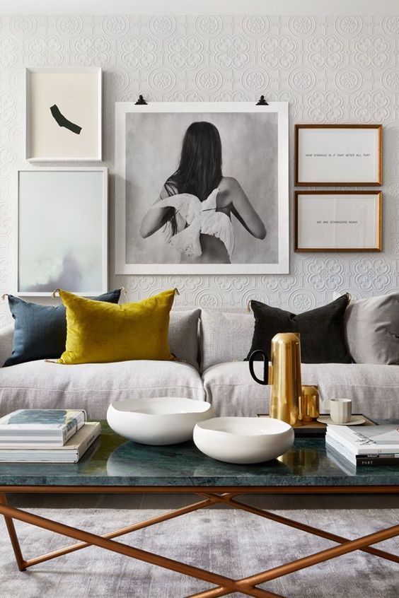 What a difference a little yellow cushion can make   Image:  Desire To Inspire