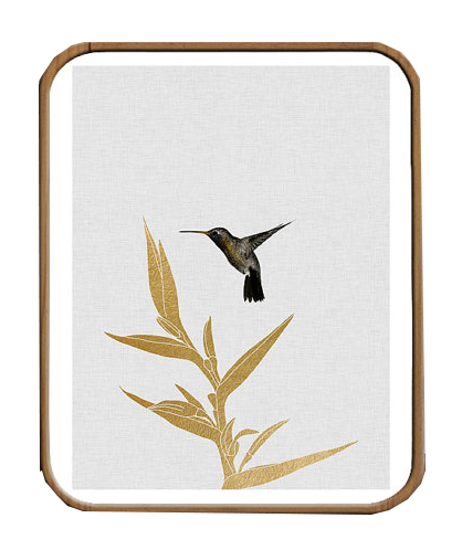 Art Deco Hummingbird Print