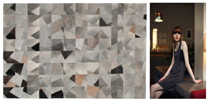 Fragmented Shapes in the Art Hide Rug