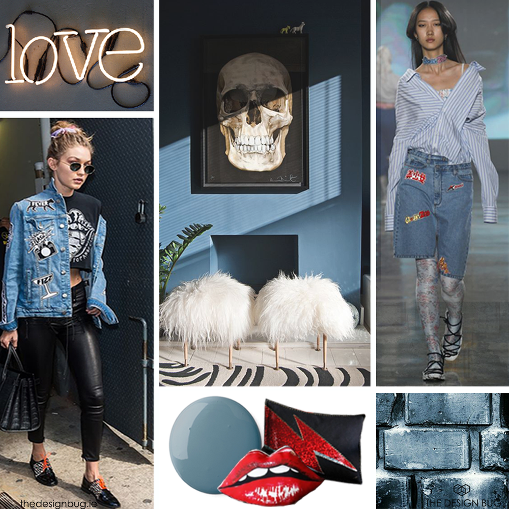 The Design Bug denim drift moodboard