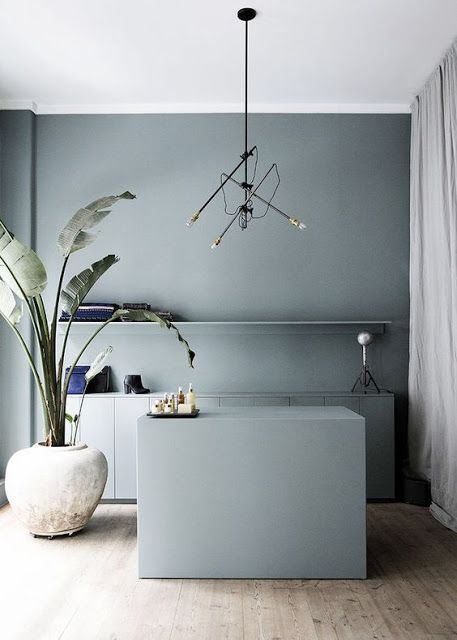 Denim Drift: A perfect colour choice for a contemporary kitchen   Image: Pinterest