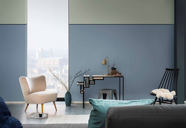 Paired with soft greys, greens and black in this contemporary living space  Image:  Amara
