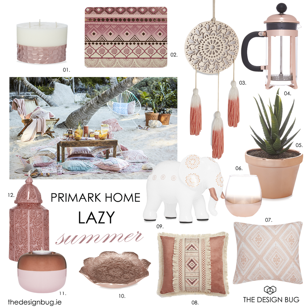 Thedesignbug.ie Primark Home Lazy Summer 17
