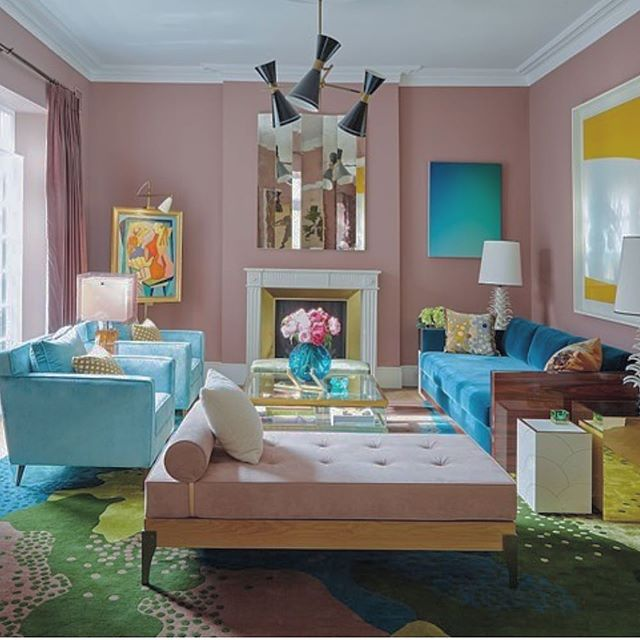 I am obsessed with this living room on the current cover of @livingetcuk. Designed by the genius @petermikic it is a feast for the eyes with its stunning mix of colours and textures and individual pieces. The bespoke rug also designed by Peter is incredible!! 💕📸 @katemartinphoto #thedesignbug . . . . . . #livingetc #pink #vintage #glamour #blue #livingroom #lighting #rug #sorbet #colour #interiors #interiordesigner #design #decor #interiorinspiration #interiorinspo #inspo #style #homedecor #irishblog #luxeinteriors #interiorblog #interiordecor #interiorstyling #instainteriors #instadecor #instagood #love