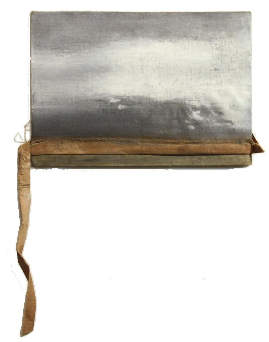 W  Técnica: Óleo sobre carátula de libro  Medida: 22 x 15 cm  Año: 2014