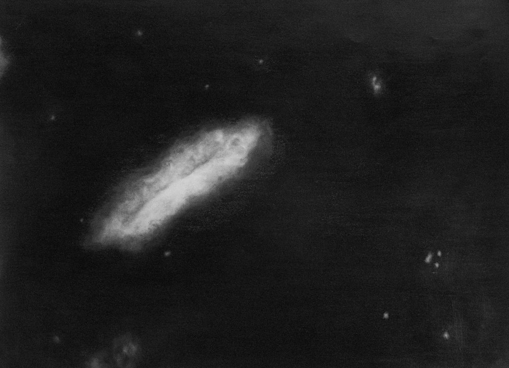 """Las visiones de Caroline Herschel"" | Grafito sobre papel | 15 de 59,4 x 42 cm ; 18 de 29,7 x 42 cm ; 5 de 25 x 35 cm | 2015"