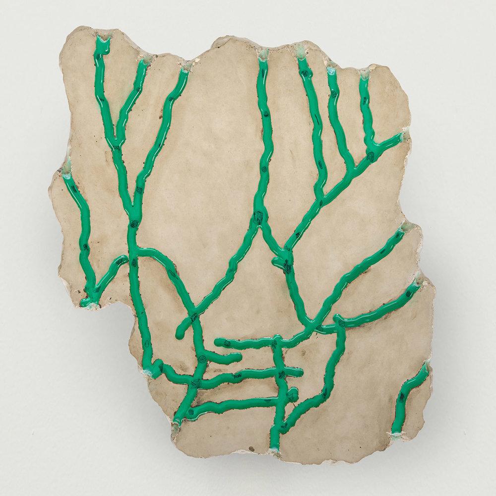 Matias Armendaris, 'Mapa de Sol', Sculpture, concrete, etchings in koso paper in resin, 20 x 18 x 1 in, 2017