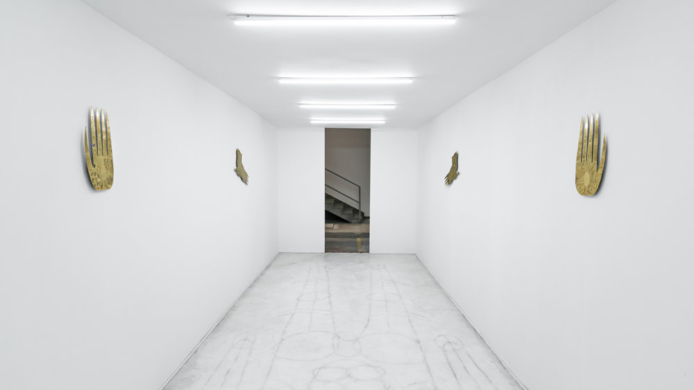 Matias Armendaris, 'huésped' (host), 2018, installation view