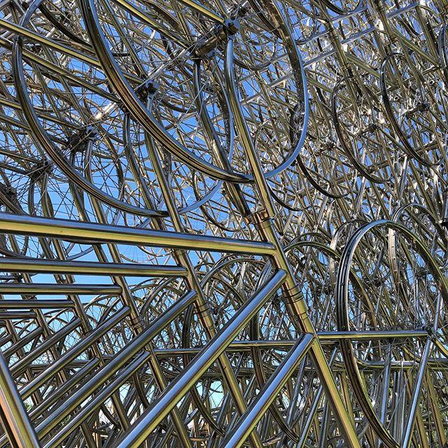 Forever Bicycles (detail) by Ai Weiwei, Austin, TX #publicart #austintexas #weddingweekend