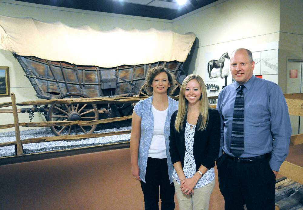 (From left) Cherie Trimble '93-'97M, Katie McGown '11, and Brad Smith '97M develop exhibits and programming at the State Museum of Pennsylvania.