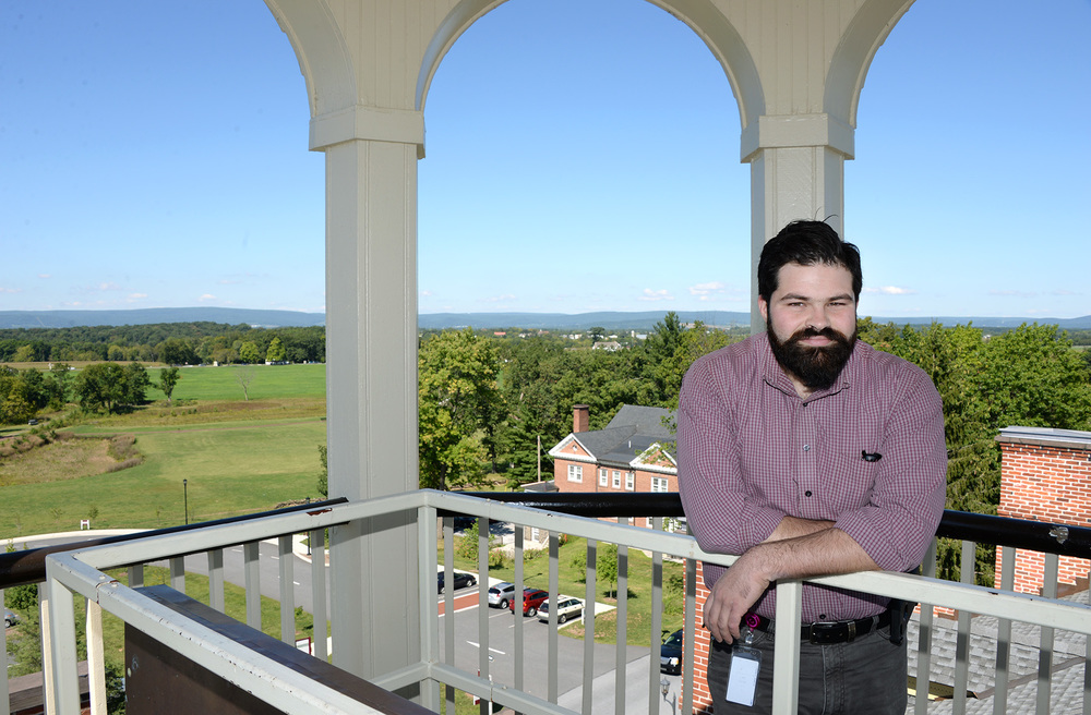 Pete Miele '14M develops tours and educational programs at the Seminary Ridge Museum in Gettysburg.