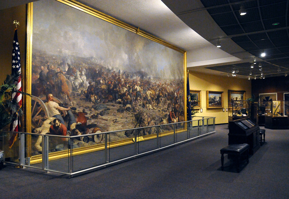The Civil War mural at the State Museum of Pennsylvania in Harrisburg.