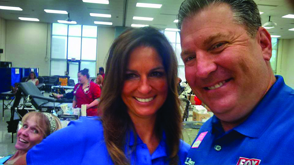 Evan Forrester '85 calls Central Pennsylvania home and stays active in his community. In August, he and coworker MaryEllen Pann participated in the Fox43 blood drive at Penn State York.