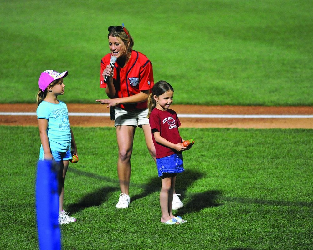 Lindsey Knupp entertained some of the biggest crowds in the MiLB while working for the Lehigh Valley Iron Pigs.