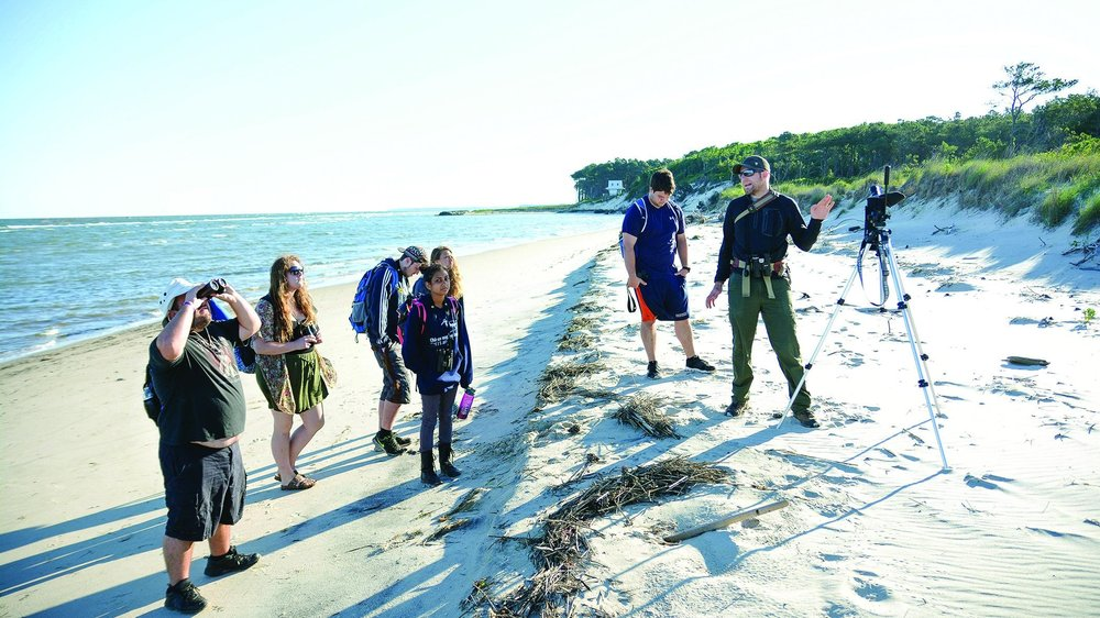 Birds on the beach, formally coastal ornithology, is the topic students studied for three weeks at the Chincoteague Bay Field Station this summer.