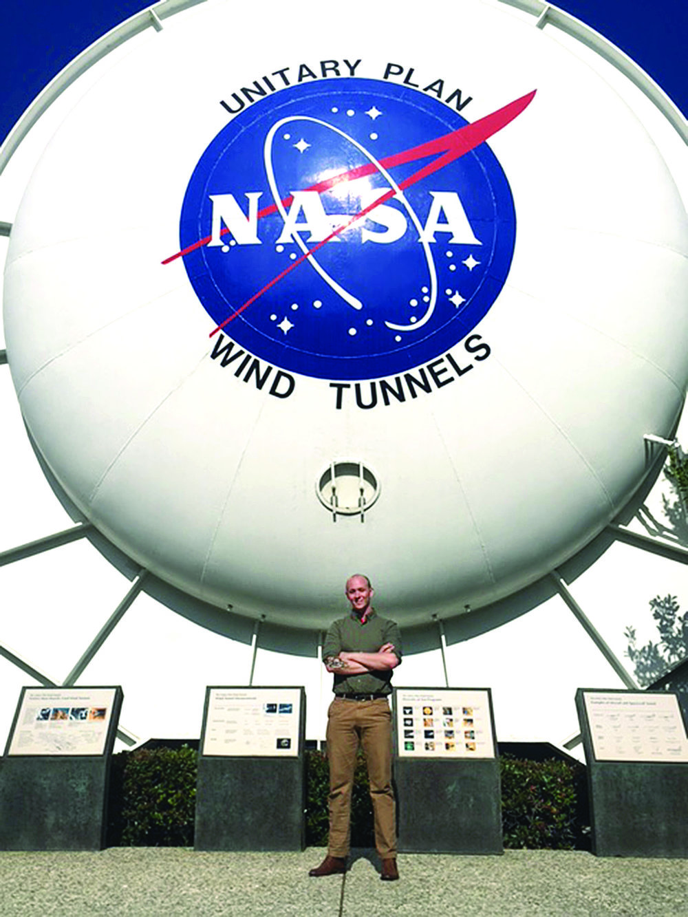 Through ROTC, Brad Foreman '18 interned with NASA this summer at the Ames Research Center in California.