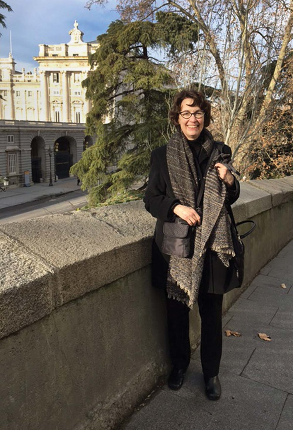 Dr. Margaret Lucia at The Palacio Real during her Fulbright in Madrid, Spain.