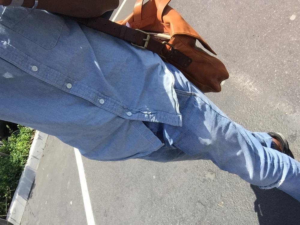 Marc Jacobs  Bag //   J Crew   Shirt //   Zanerobe   Pants //   Nike   Shoes