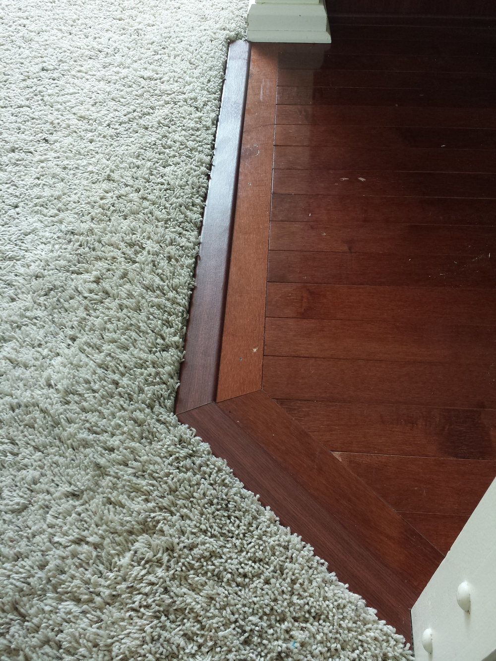 New carpet transition installed