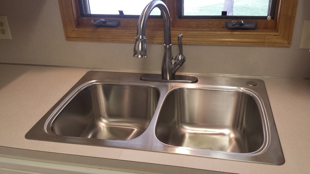 New heavy duty stainless sink & faucet