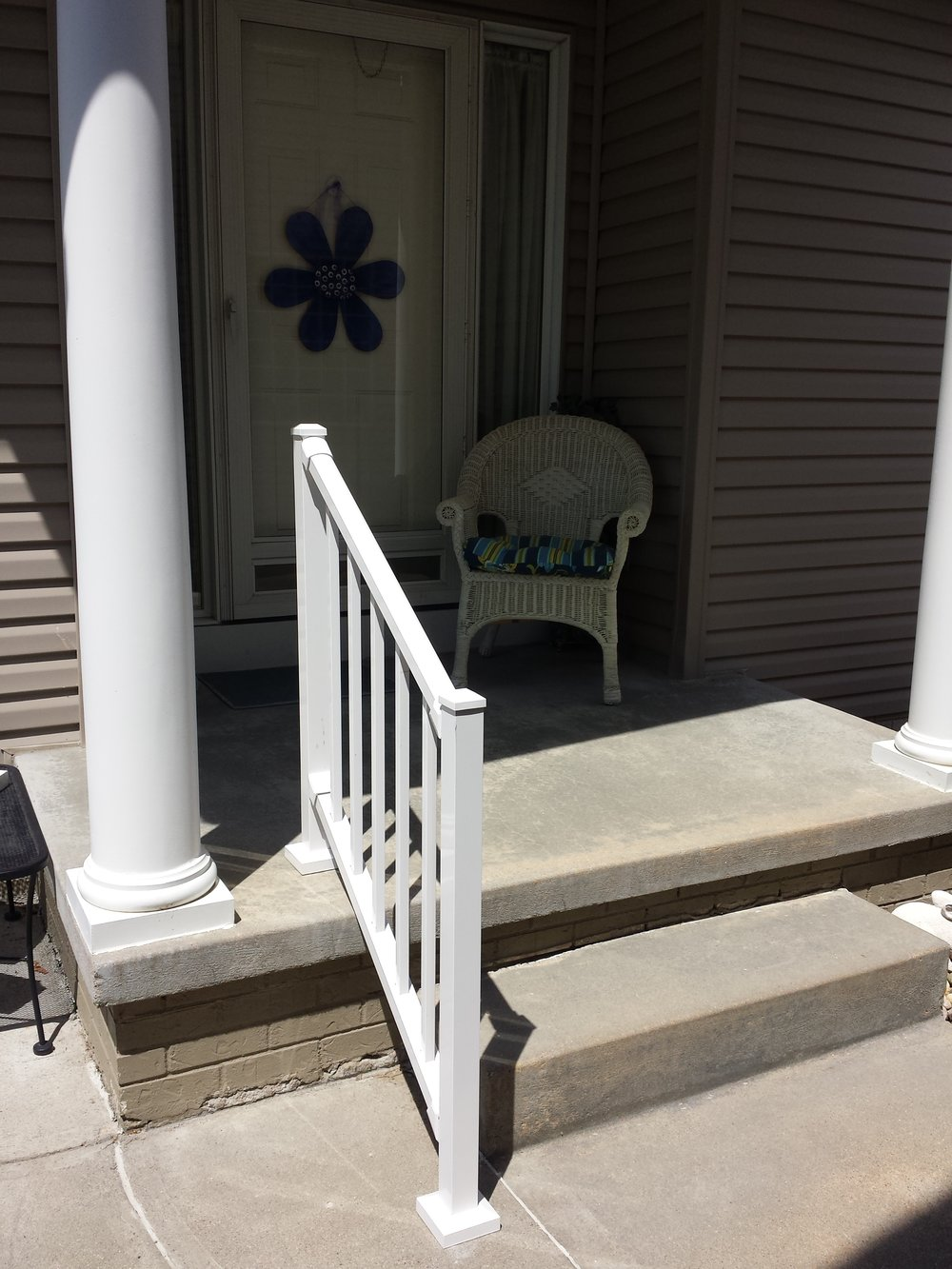 Steps with new aluminum railing