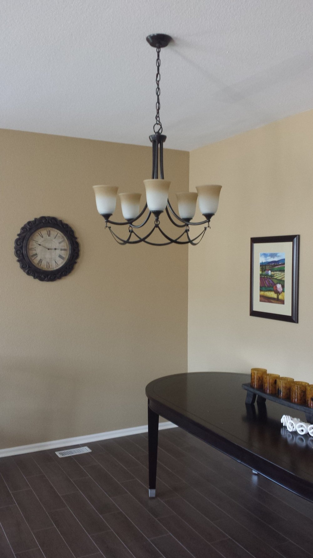New dining room light fixture