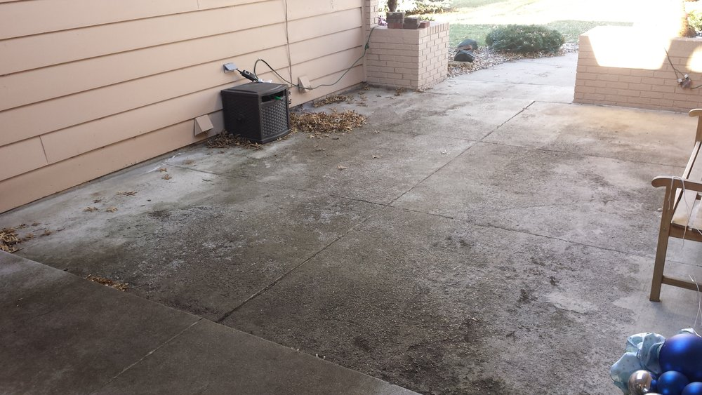 Badly deteriorated patio not draining