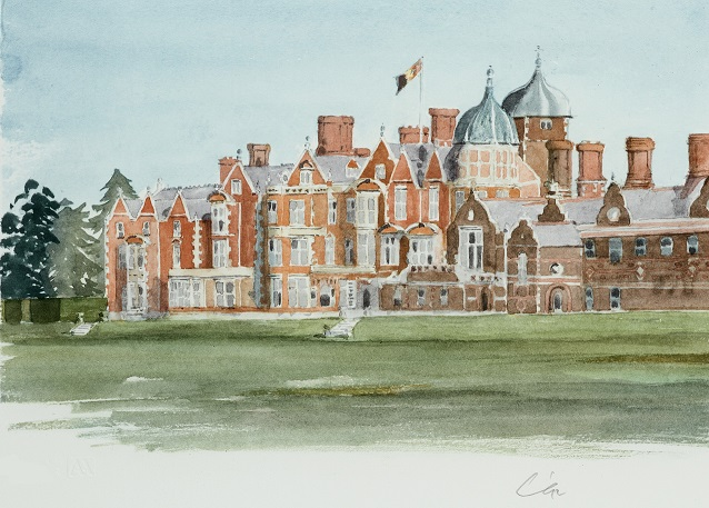 Sandringham signed Lithograph by HRH The Prince of Wales