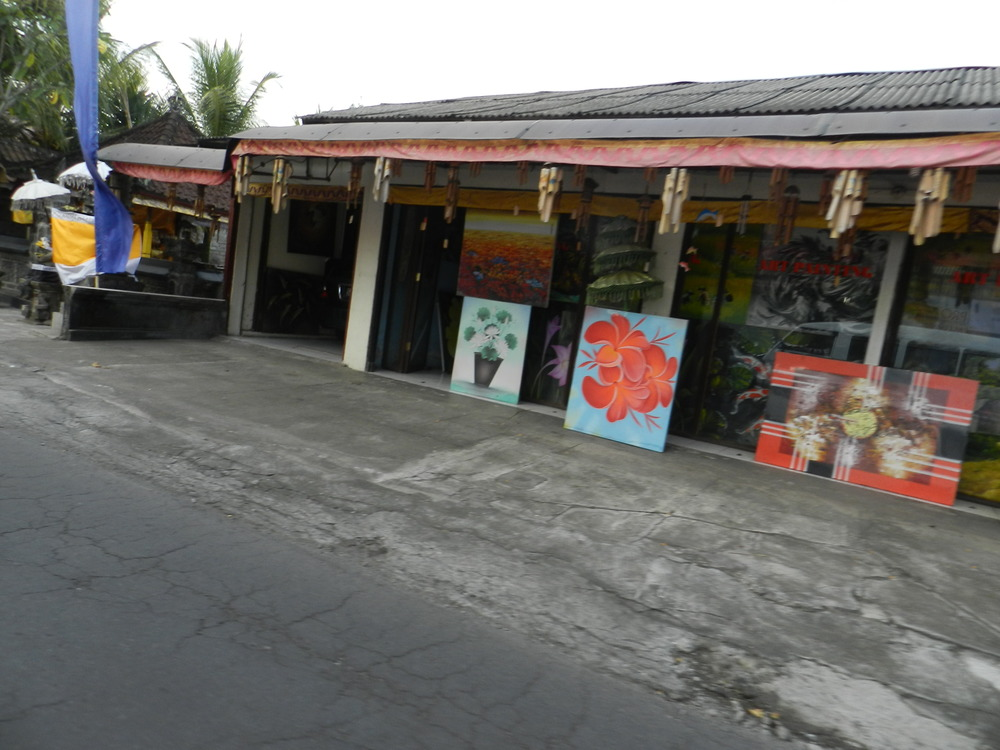 Art shops on the way to Ubud