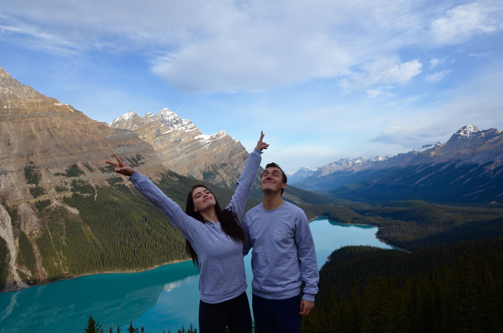 Our love for Banff is real. Wearing @watereddownapparel
